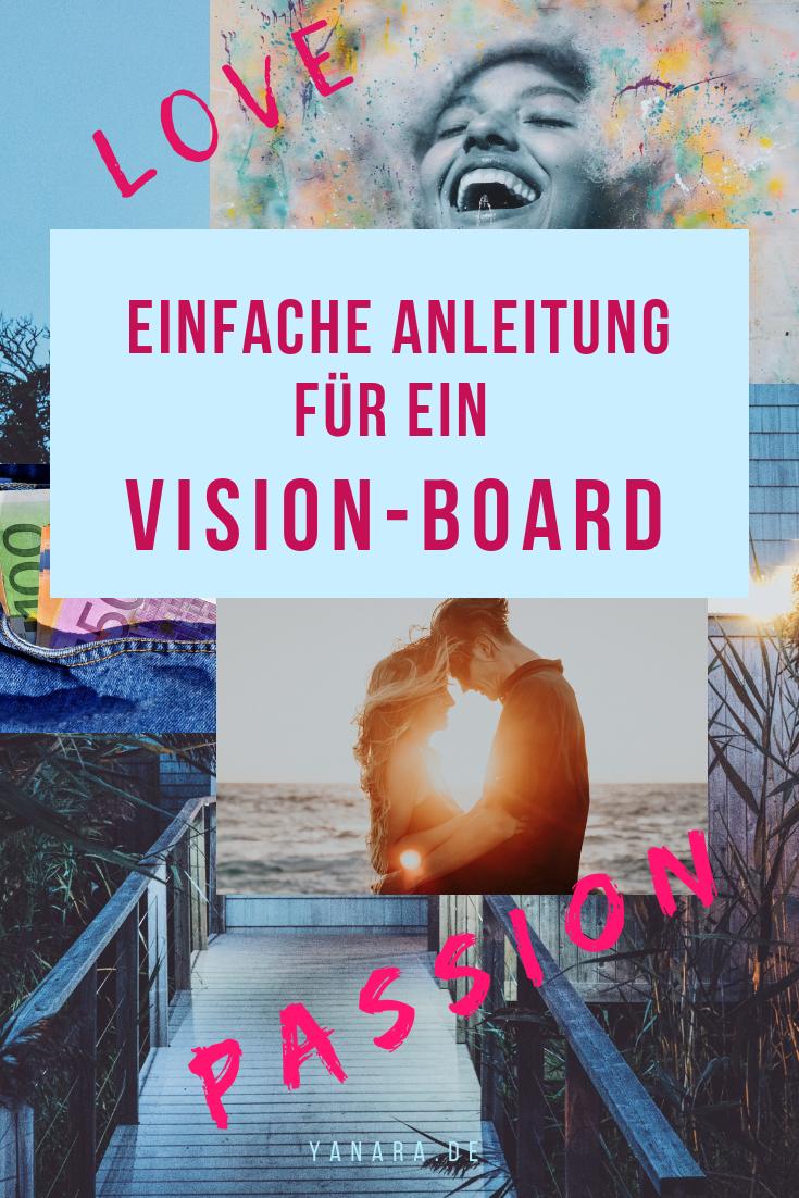 Wir Menschen sind visuelle Wesen. Nicht umsonst heißt es, Bilder sagen mehr als tausend Worte. Deshalb nutze die Kraft deines Unterbewusstseins. Ein Vision-Board ist eine der wirksamsten Methoden, um dein Unterbewusstsein anzuregen und mit deiner Vision in Kommunikation zu bleiben. #Wünsche #Vision #Vision-Board #Träume