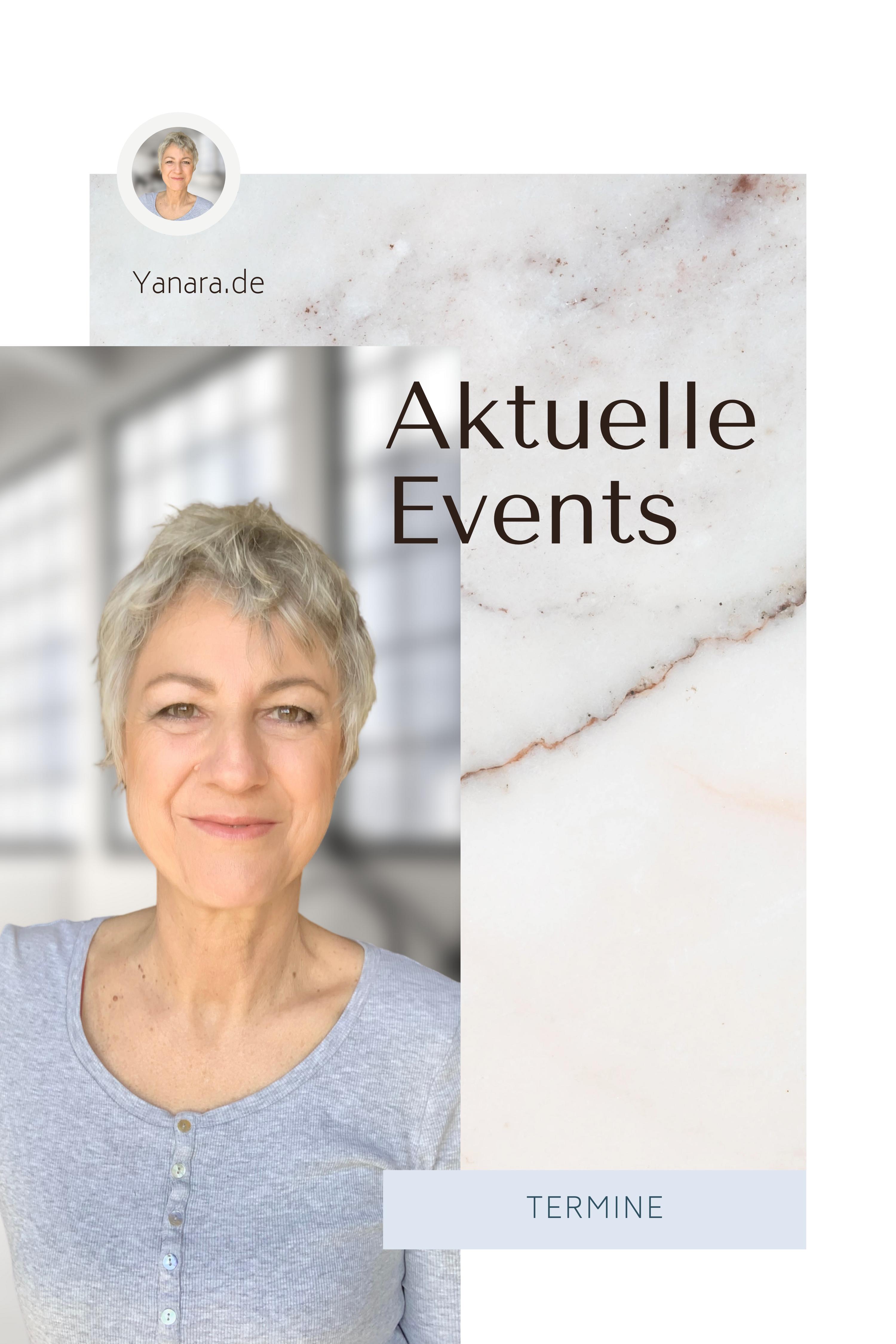 Hier findest du alle Termine zu meinen Online-Events.